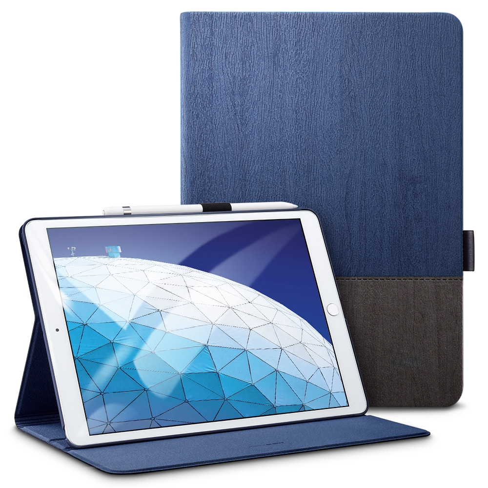 Trendy Leather iPad Air 2 Case (10.5 Inch), With Auto Sleep Functionality (Blue)