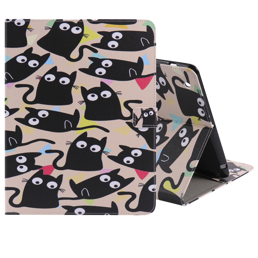 iPad 4 Case Featuring A Protective Durable Leather Cover, Slim Profile & Auto Sleep (Little Cat)