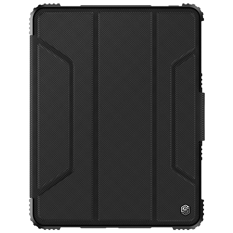 Bumper Leather iPad Pro 11 Case (2018),with Pen Holder (Black)