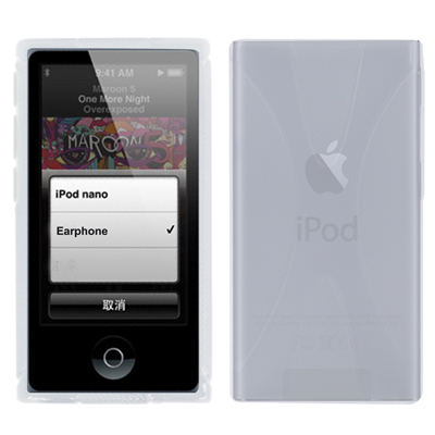 X-Shaped Durable Case for iPod nano 7 (Transparent)