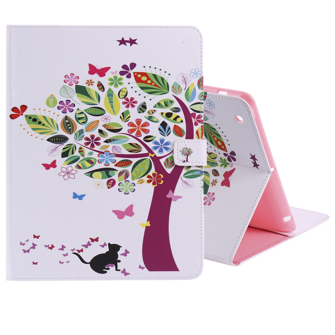 iPad 4 Case Featuring A Protective Durable Leather Cover, Slim Profile & Auto Sleep (Cat and Tree)