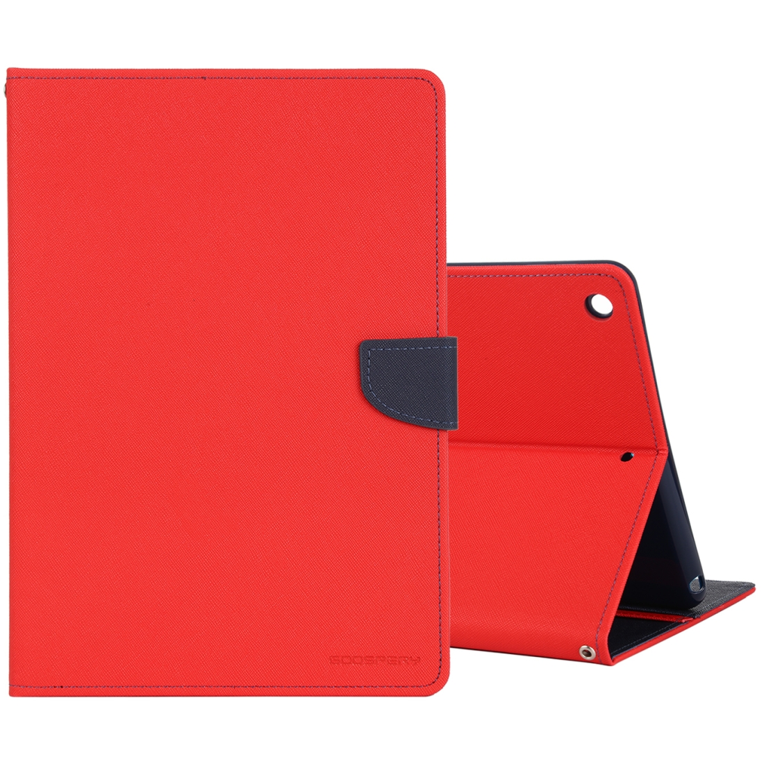 iPad 7th Generation Case (10.2 Inch) Cross Texture Leather Case with Sleeve & Holder  (Red)
