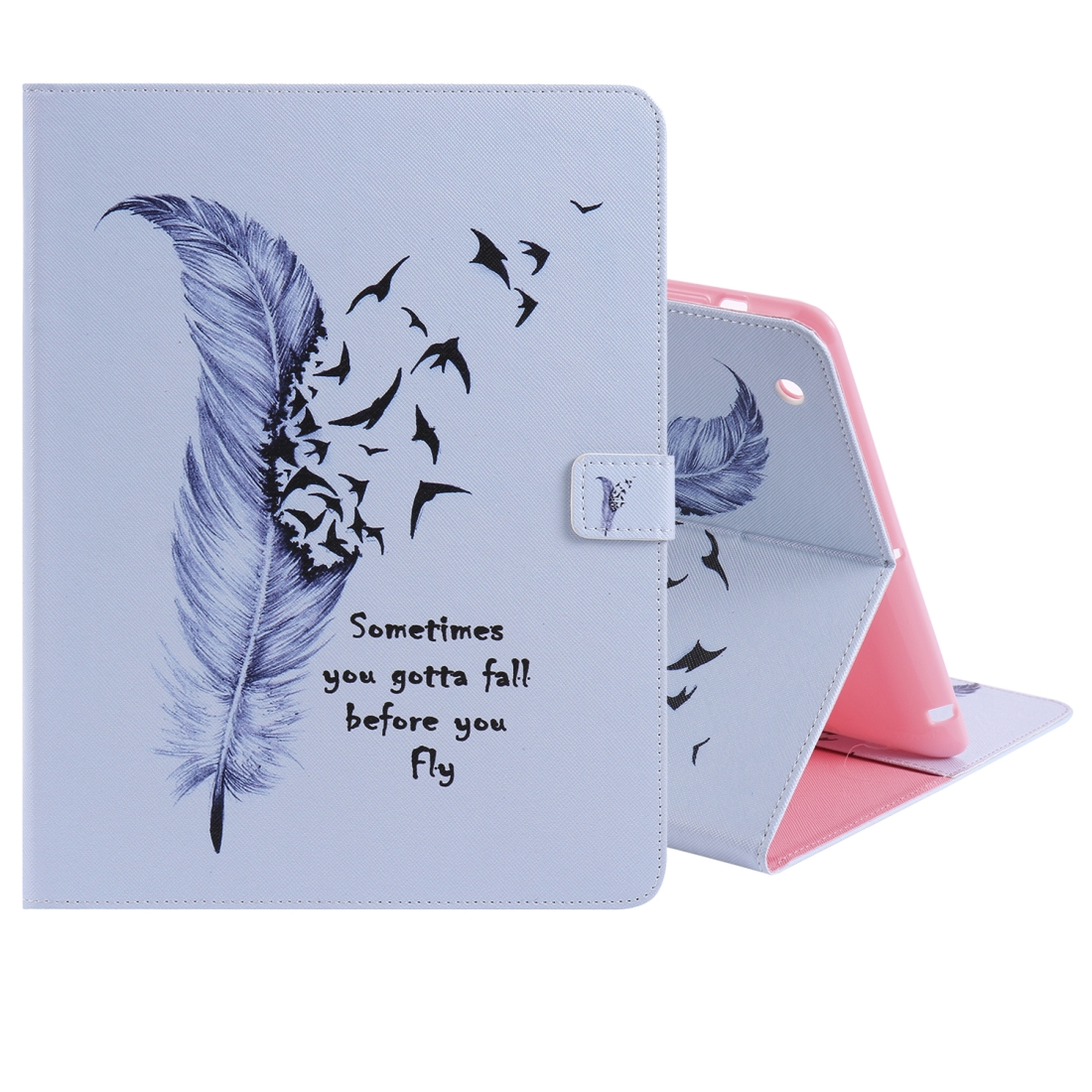 iPad 4 Case Featuring A Protective Durable Leather Cover, Slim Profile & Auto Sleep (Feather)