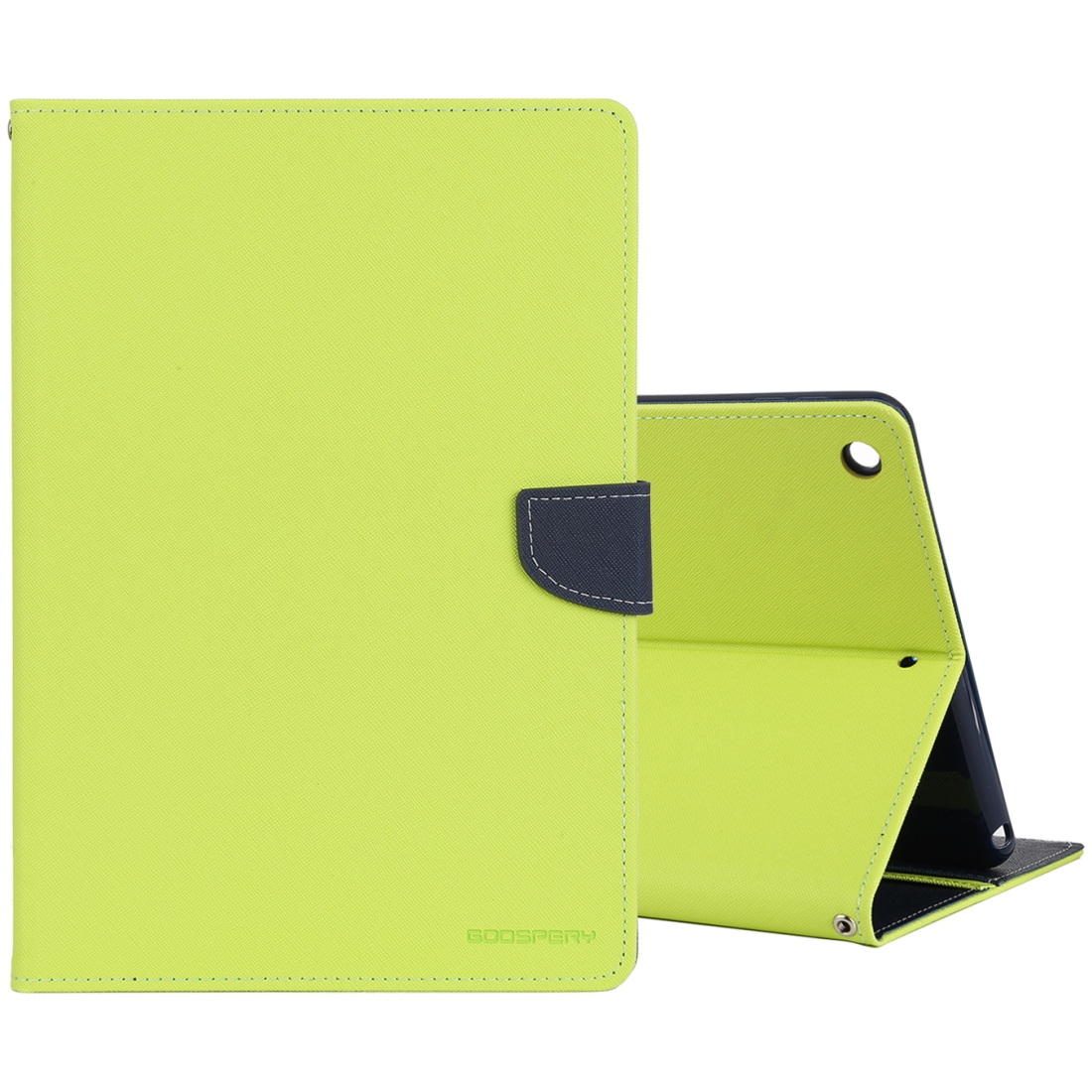 iPad 7th Generation Case (10.2 Inch) Cross Texture Leather Case with Sleeve & Slim Profile (Green)
