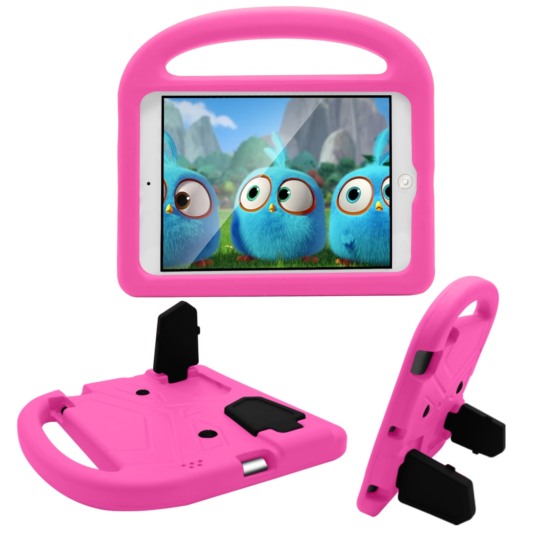 iPad Cover For Kids, Fits iPad 2/3/4 With A Kid Friendly Durable Shockproof EVA Design (Rose Pink)