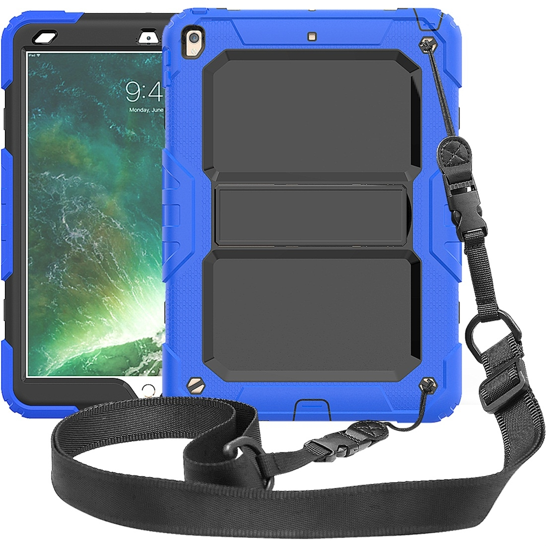 Shockproof Protective And Durable iPad Air Case (10.5 Inch), with Shoulder Strap (Blue)