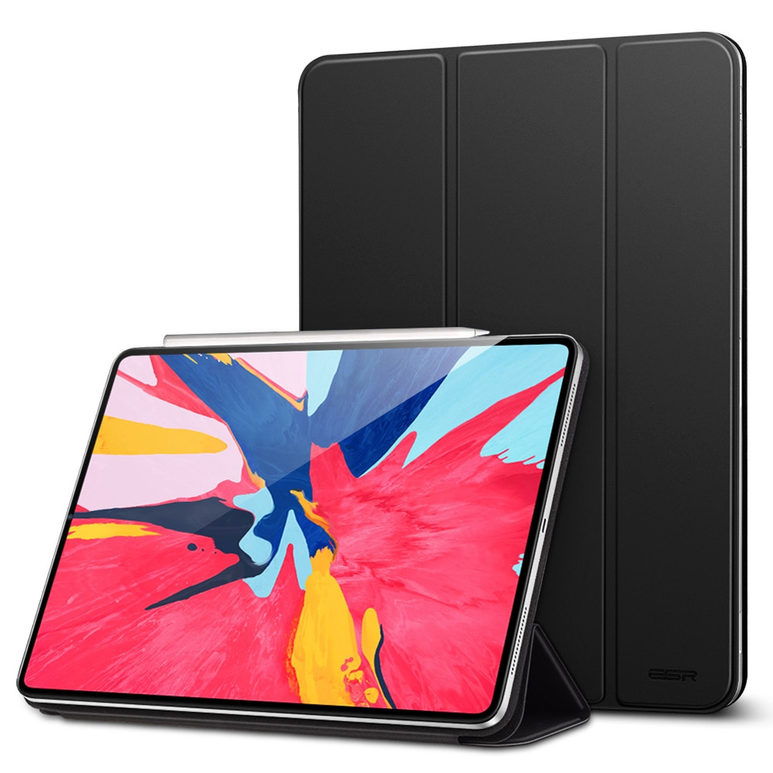 Magnetic Series Leather iPad Pro 12.9 Case (2018), with Auto Sleep (Black)