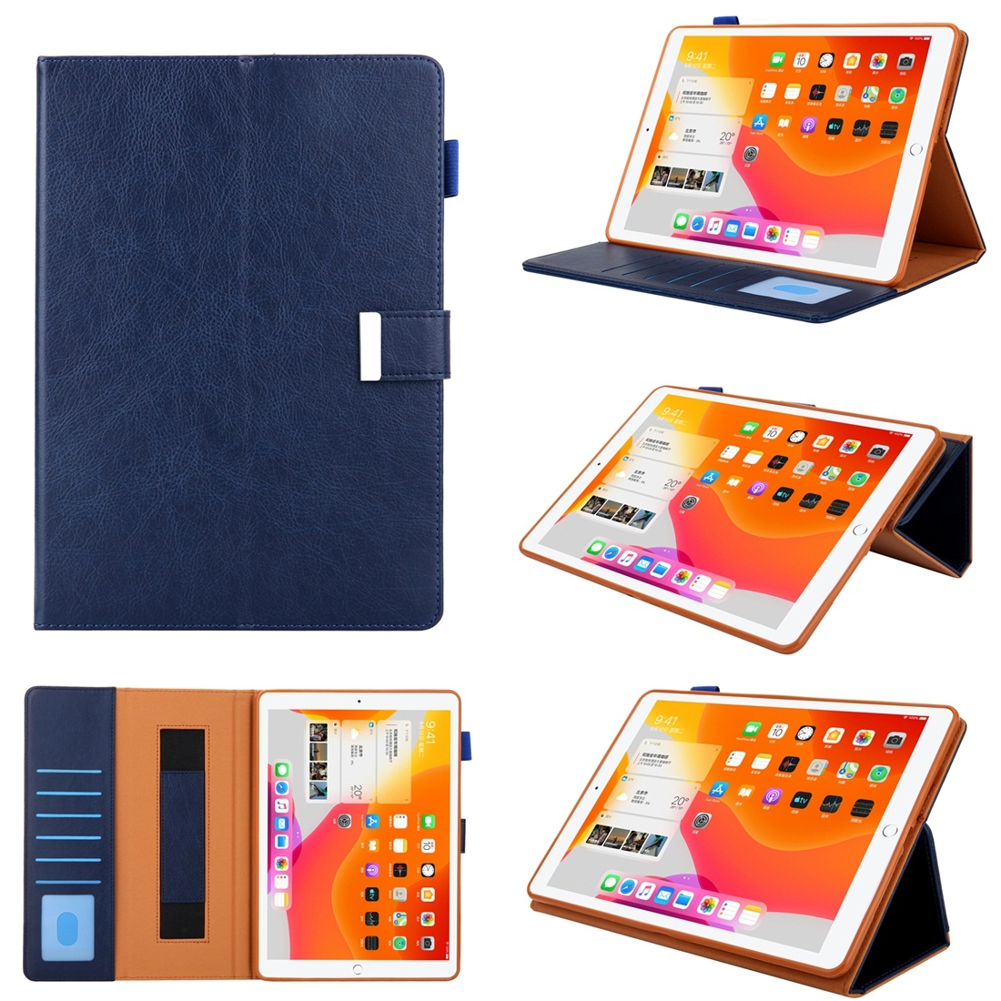 iPad 7th Generation Case Fits iPad 5/6/7/8/9, Features A Trendy Leather Design & Auto Sleep (Blue)