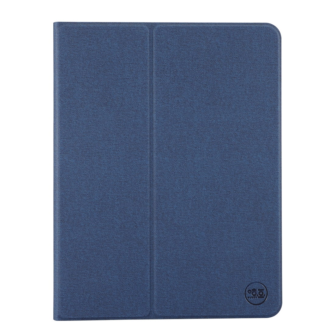 Fine Cloth Pattern Flat Leather iPad Pro 12.9 Case, with Pen Holder (Dark Blue)