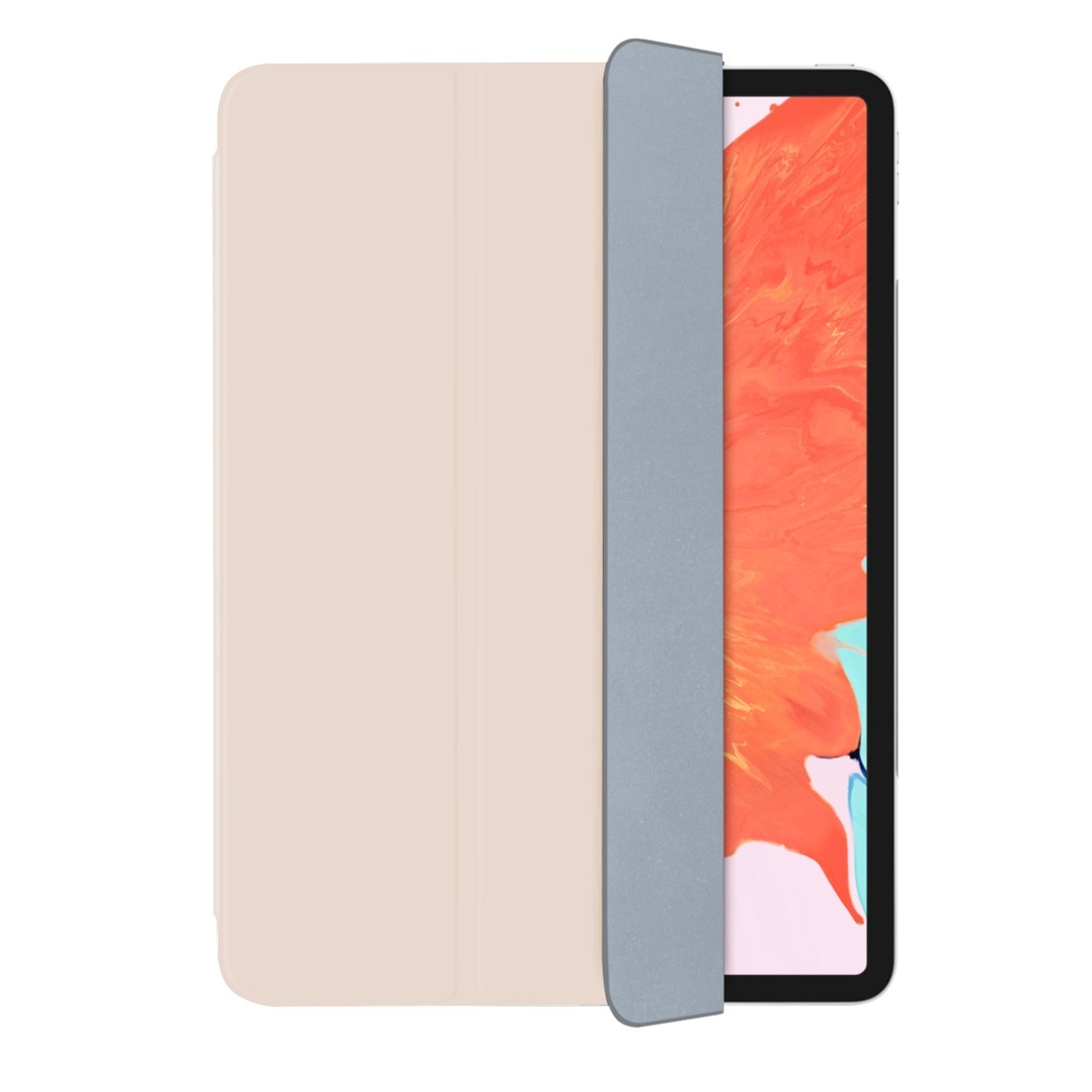 Magnetic Leather iPad Pro 12.9 Case (2018), with Folding Holder & Auto Sleep (Pink)