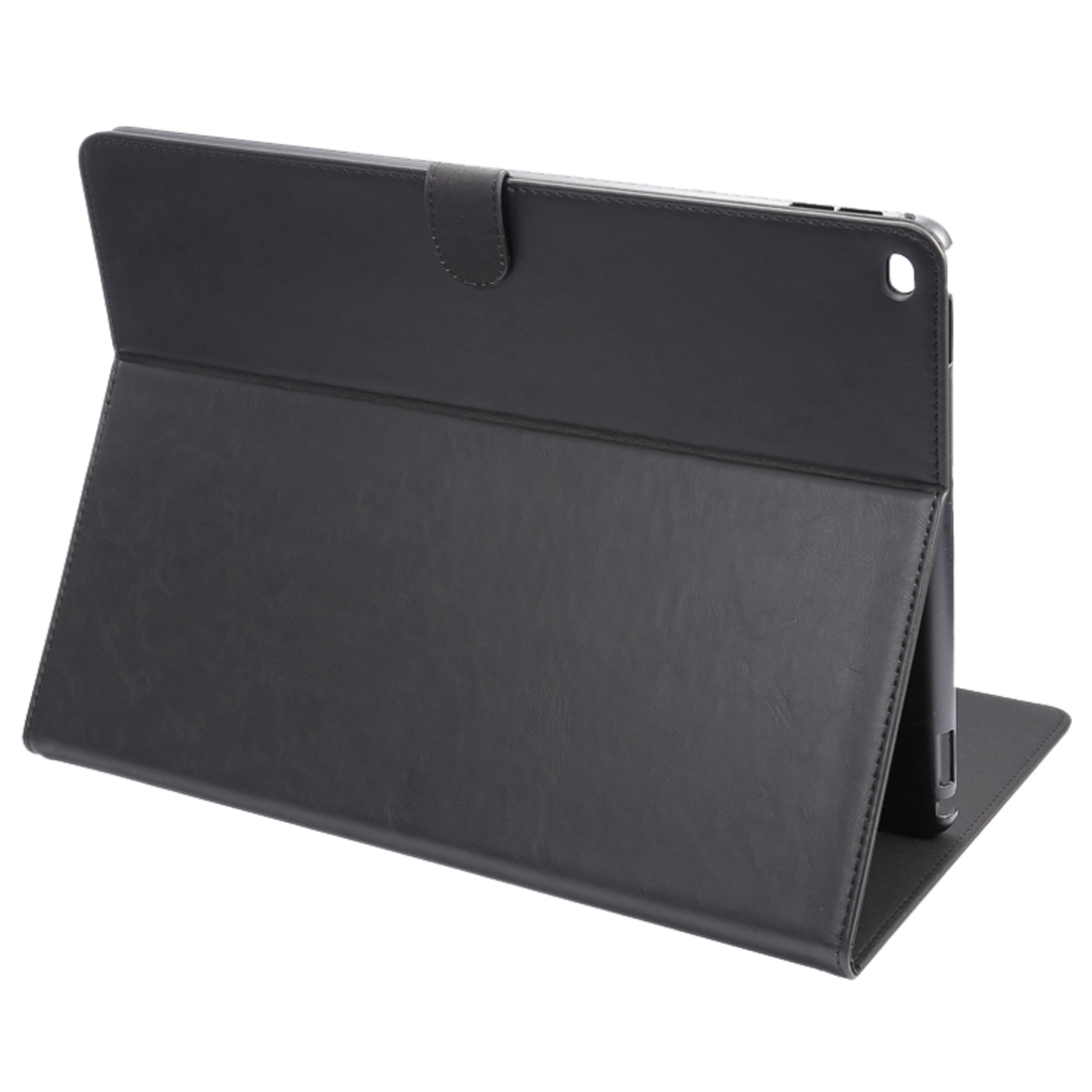 iPad Pro 12.9 Case In Protective Hide Grain Leather Sheath With Auto Sleep (Black)