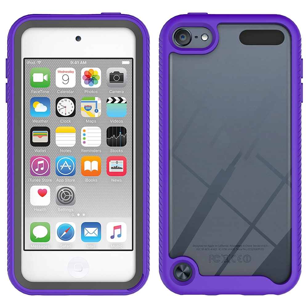 For iPod Touch 5/ 6/ 7 Twin-layer Design Shockproof PC/Protective Durable Casing (Purple)