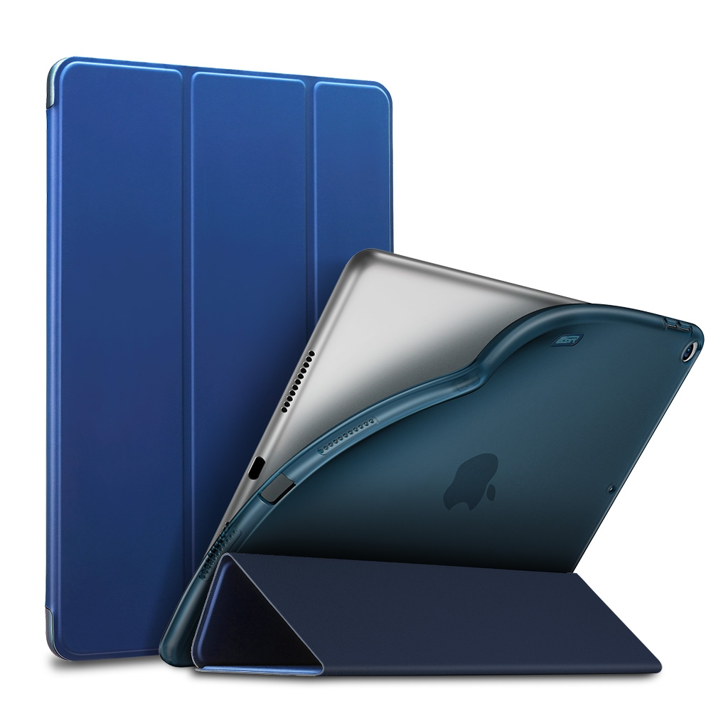 Slim Fit Leather/Soft Durable iPad Air 2 Case (10.5 Inch), with Tri-Fold & Auto Sleep (Blue)