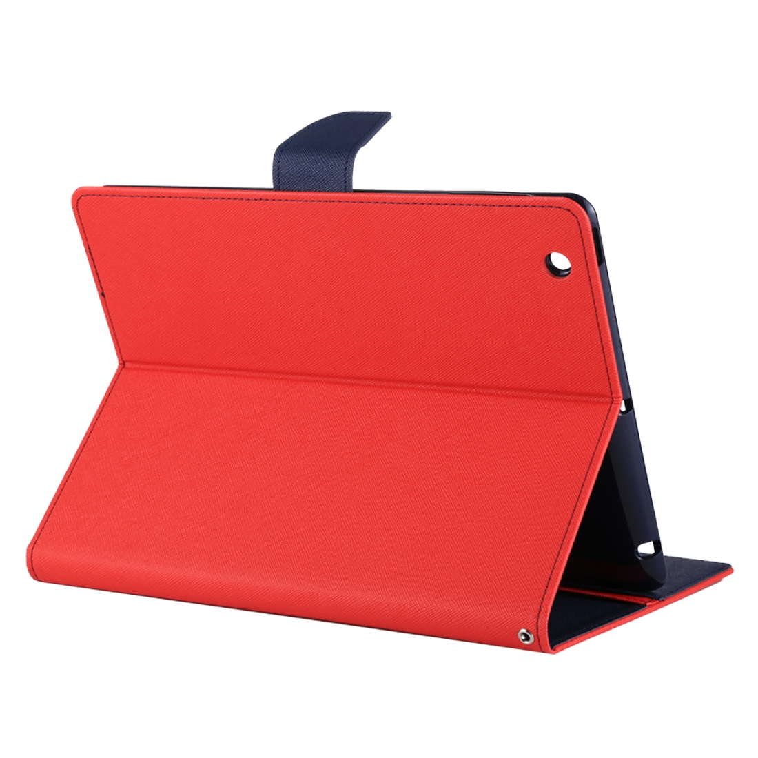 iPad 4th Generation Case Fits iPad 2,3,4, Cross Texture Leather Case & Slim Profile (Red)