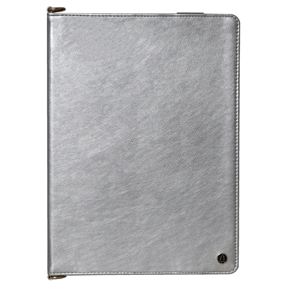 Leather iPad Air 3 Case (10.5 Inch) With Sleeves, Pen Holders, Frame & Shoulder (Silver)