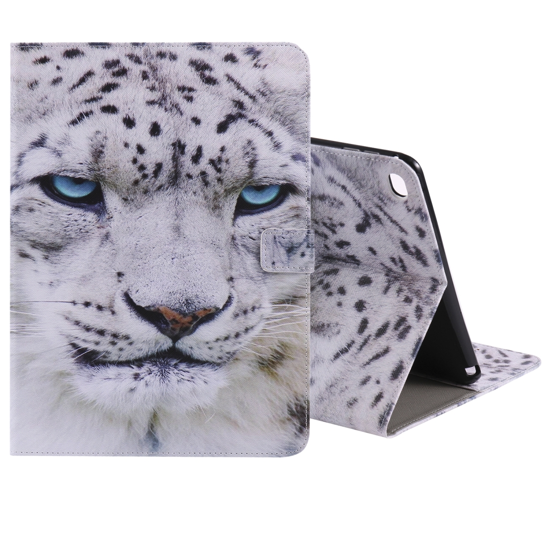 iPad 5th Generation Case Fits iPad 5 & 6, Leather With A Slim Profile & Auto Sleep (White Panther)
