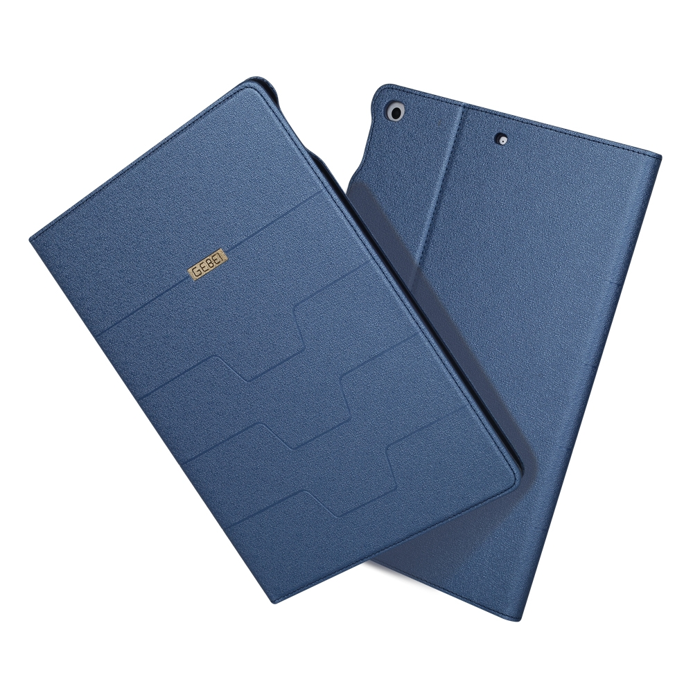 iPad 9.7 Case 2018 & 2017 PU/Protective Durable Casing with Sleeves (Blue)