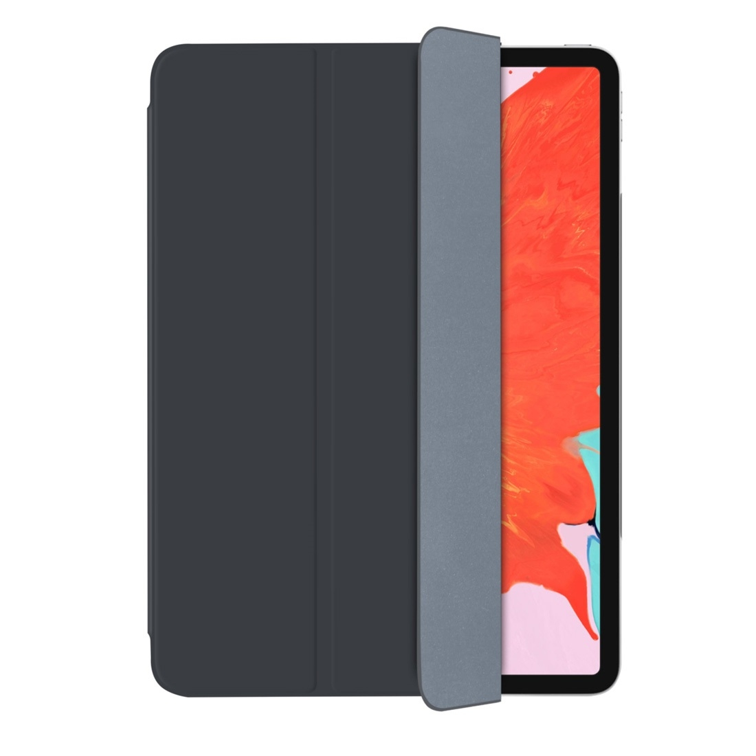 Magnetic Leather iPad Pro 11 Case (2018), with Folding Holder & Auto Sleep (Black)