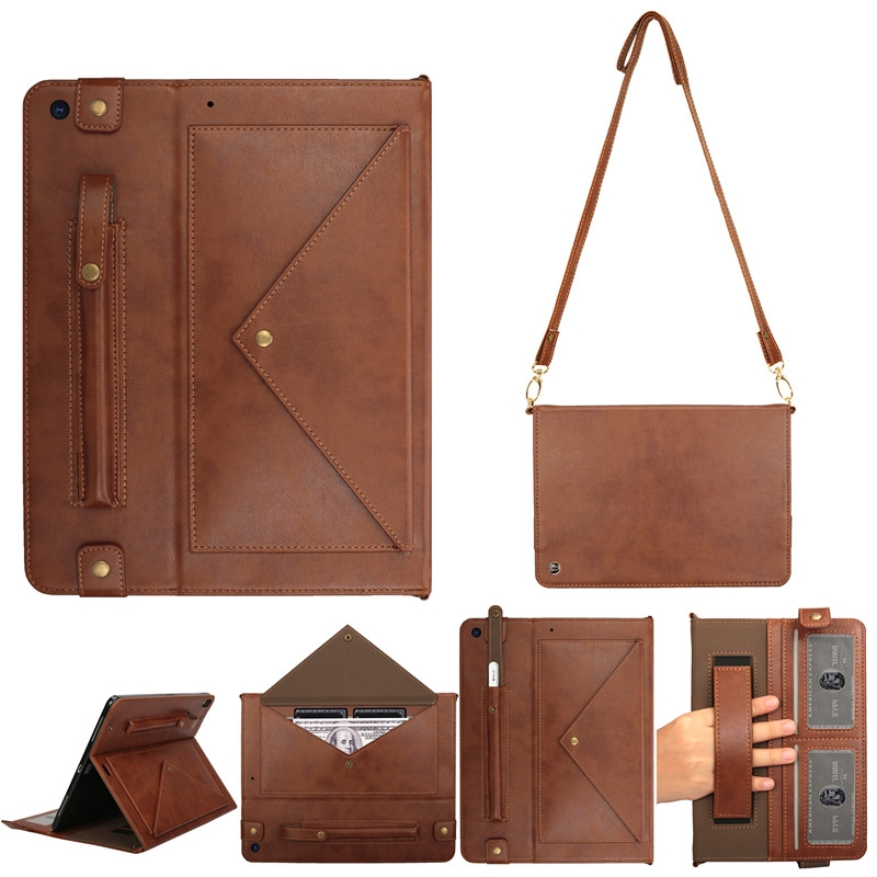 iPad 7th Generation Case (10.2 Inch)  Leather Case, Pen Holder & Slim Profile (Coffee)