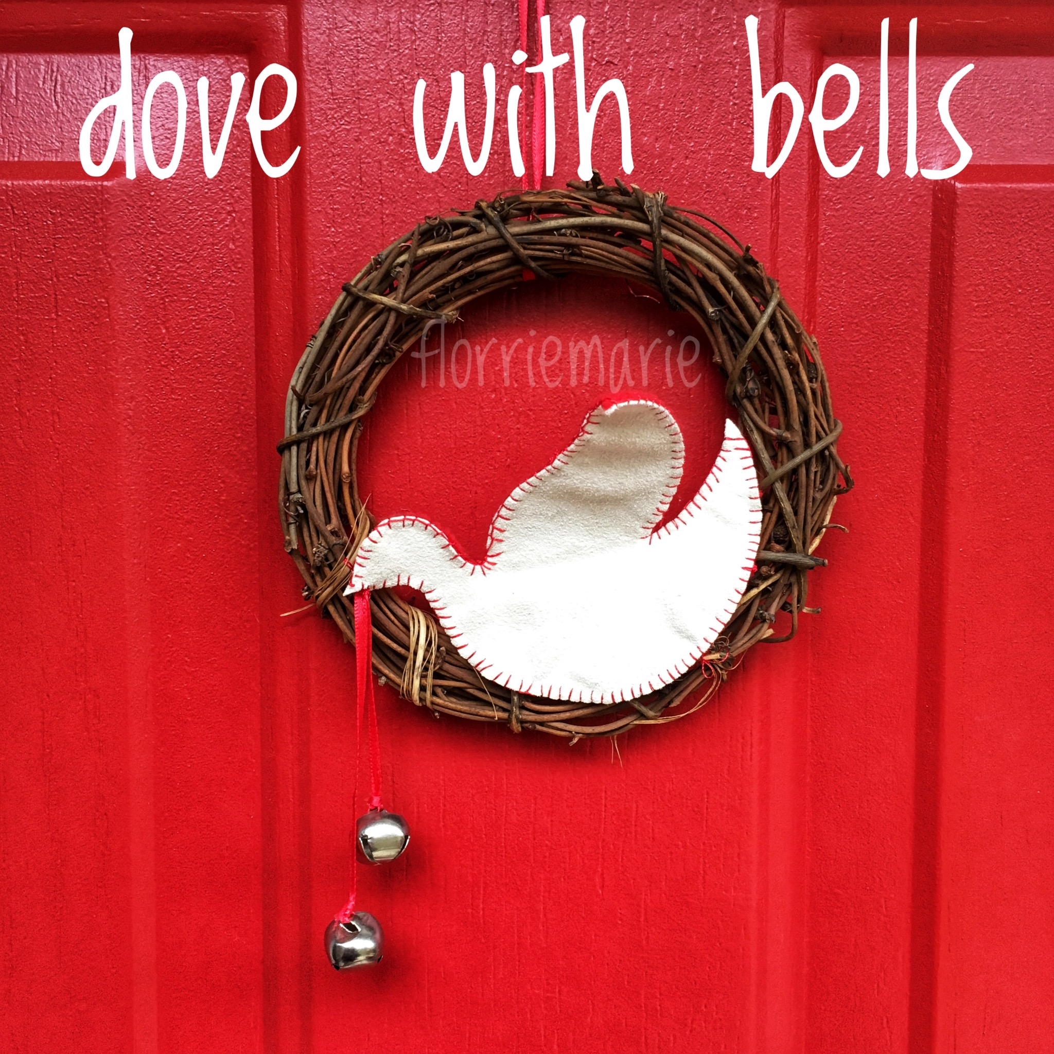 Dove with Bells Wreath Kit