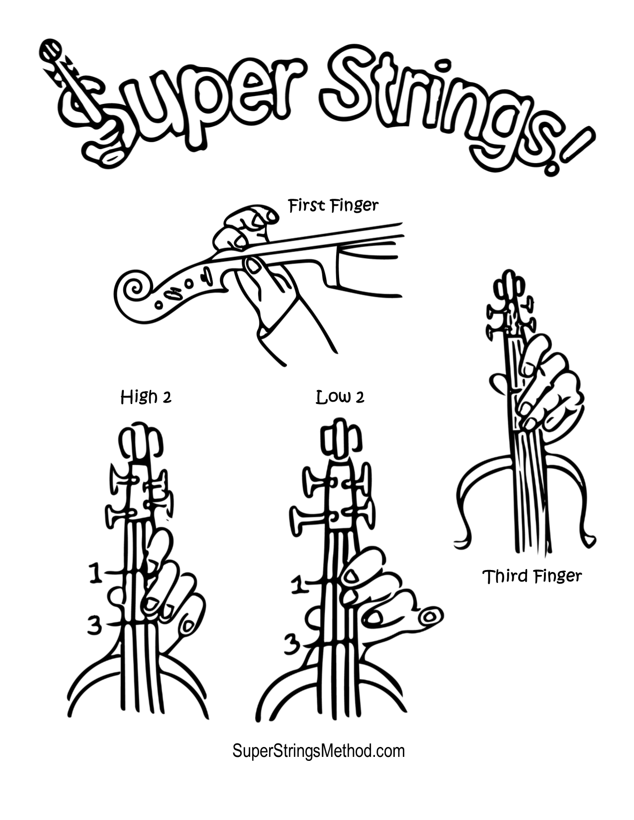 FREE violin book coloring pages.