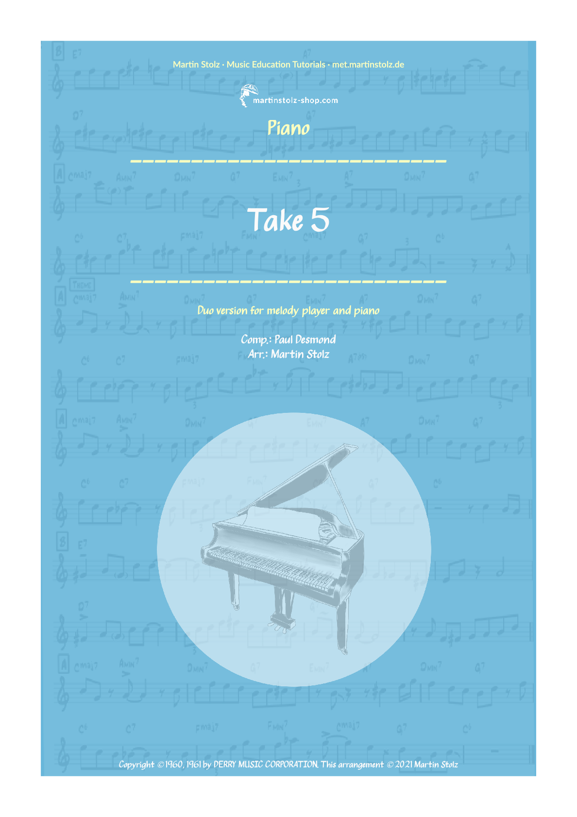 """""""Take 5"""" for Clarinet and Piano"""