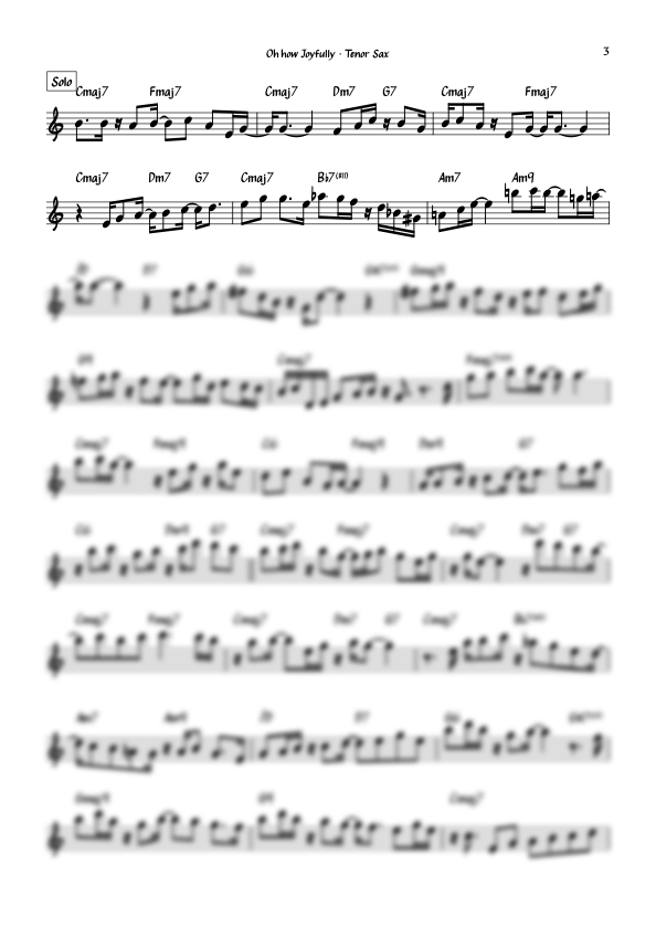 """""""Oh how Joyfully (Oh, Du Fröhliche)"""" for Tenor Saxophone and Band/Duo"""