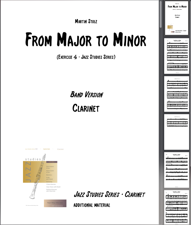 From Major to Minor · Clarinet & Band