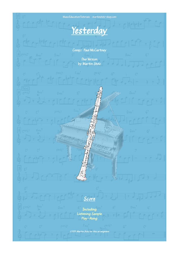 """Yesterday"" for Clarinet · Duo Version"