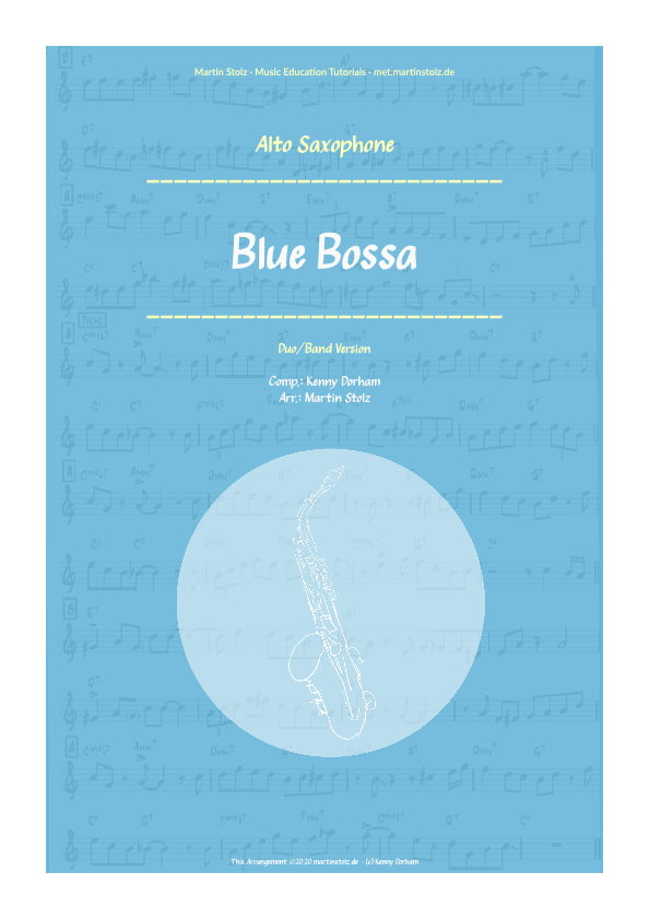 Blue Bossa for Alto Saxophone incl. Play-Along