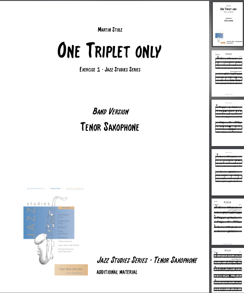 One Triplet only · Tenor Saxophone & Band