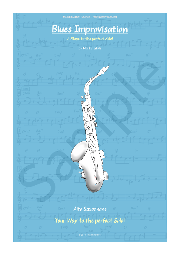 Blues in G · Alto Saxophone · 7 Steps to the perfect Blues-Solo!