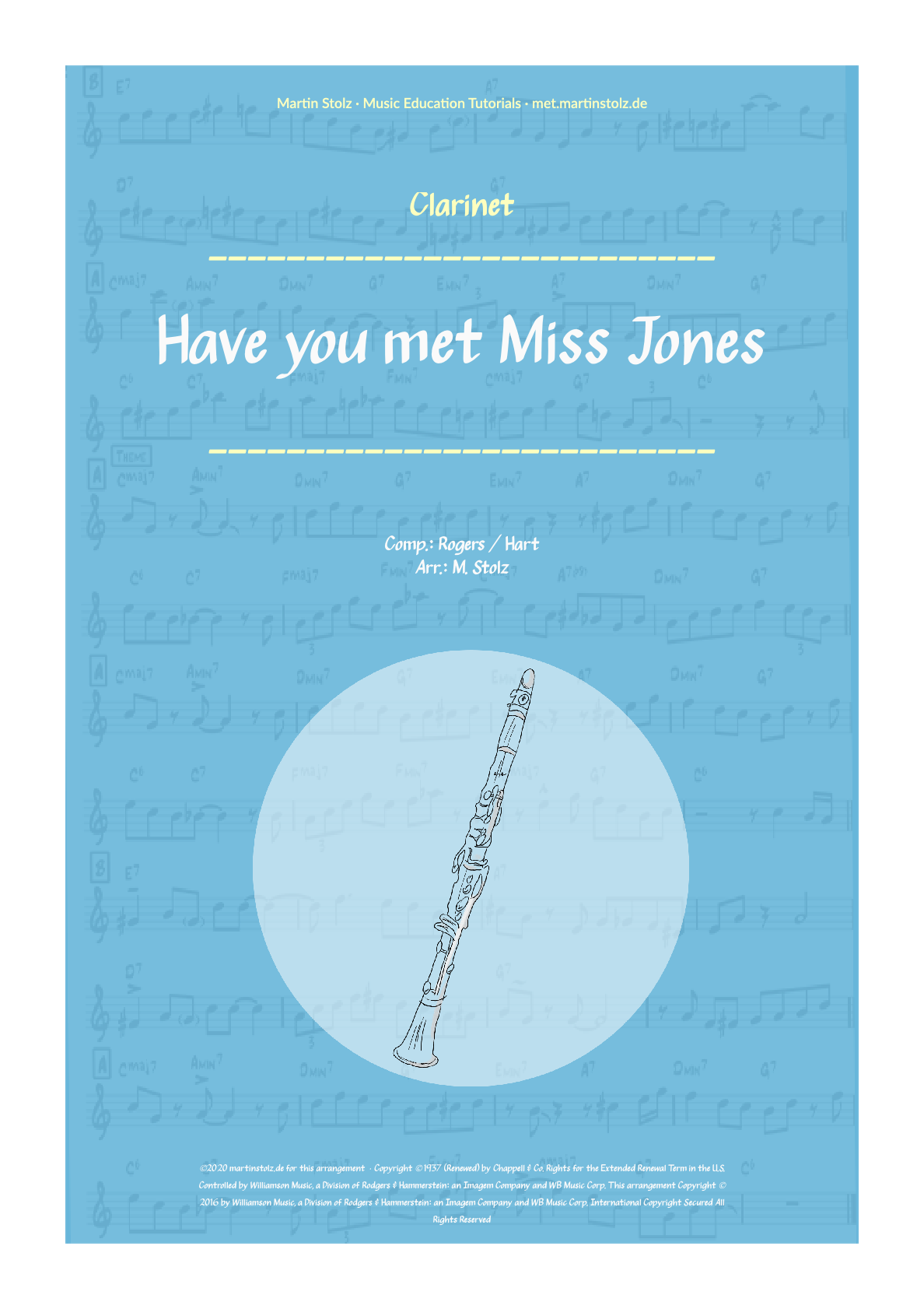 """Have you met Miss Jones"" for Clarinet including Solo Transcription"