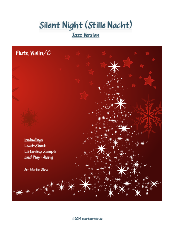 """""""Silent Night (Stille Nacht)"""" arranged for Flute and Band"""