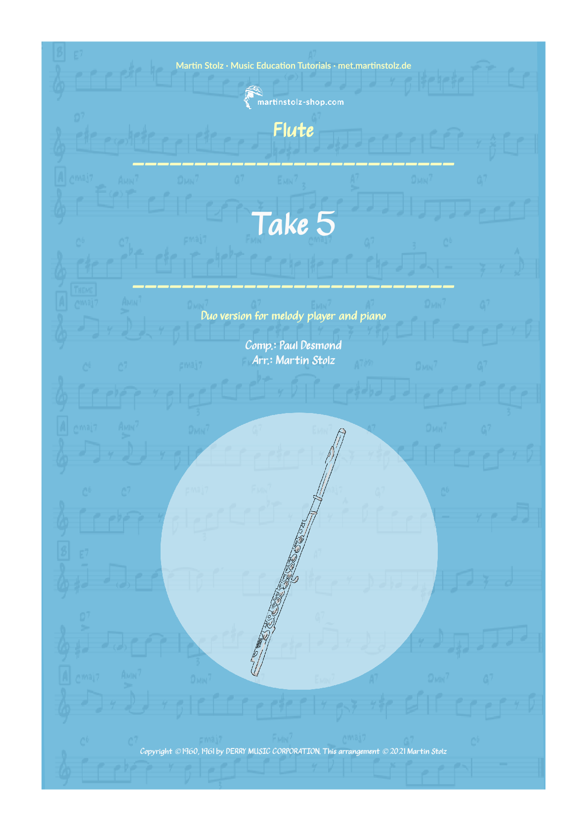 """""""Take 5"""" for Flute and Piano"""