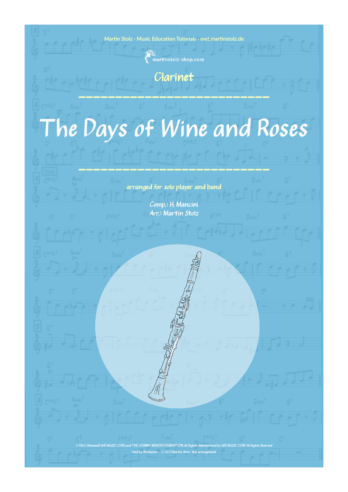 """The Days of Wine and Roses"" for Clarinet including Solo Transcription"