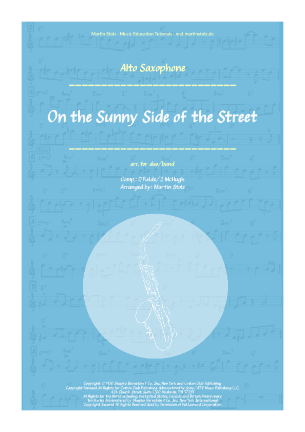 On the sunny Side of the Street - Alto and Band/Piano mp3