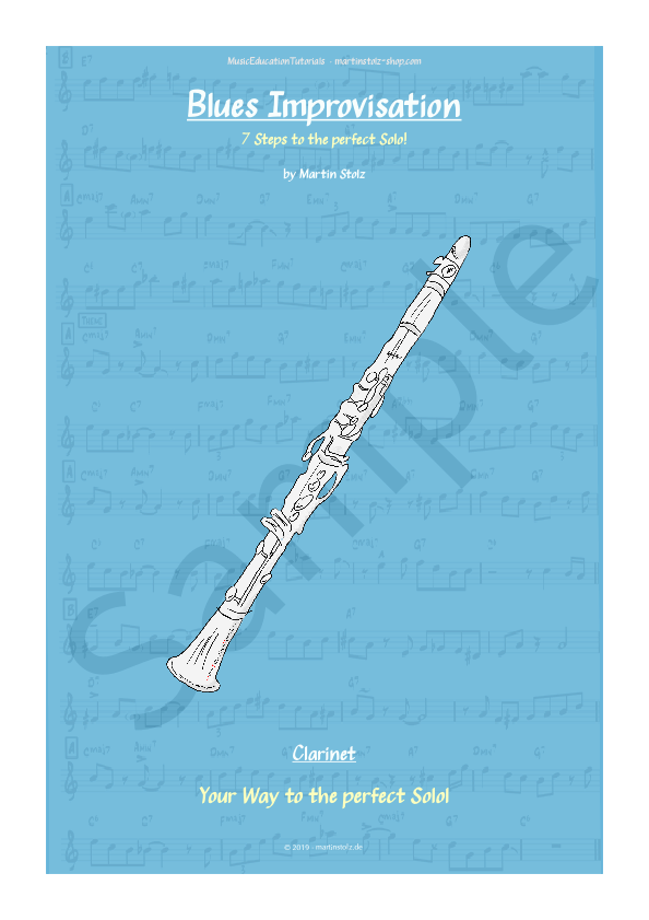 Blues in C · Clarinet · 7 Steps to the perfect Blues-Solo!