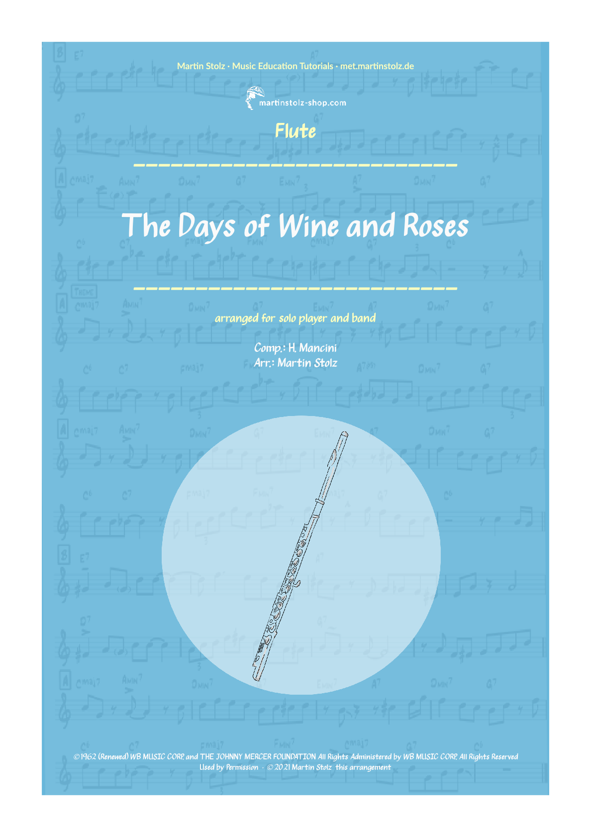 """The Days of Wine and Roses"" for Flute including Solo Transcription"