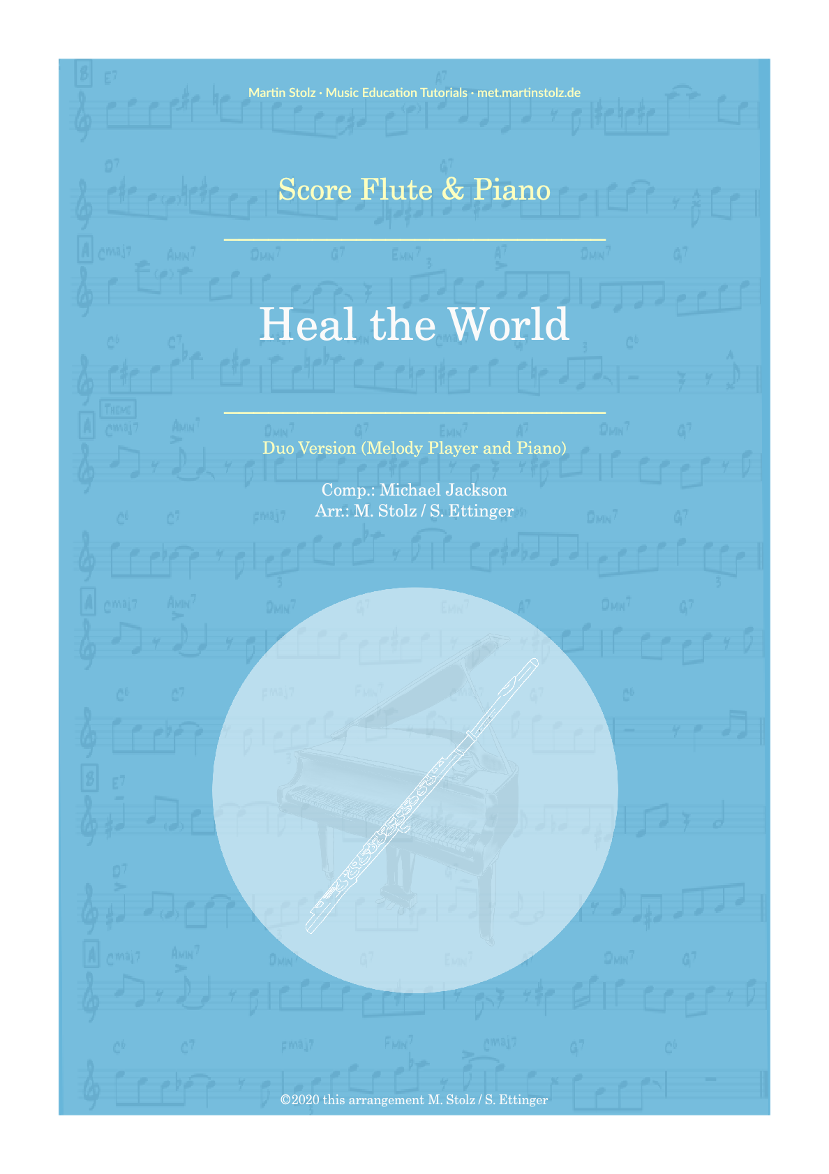 """""""Heal the World"""" for Flute and Piano"""