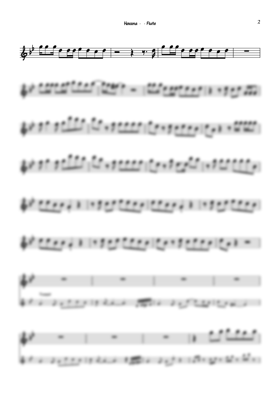 """""""Havana"""" by Camila Cabello for flute including play-along (backing track)"""