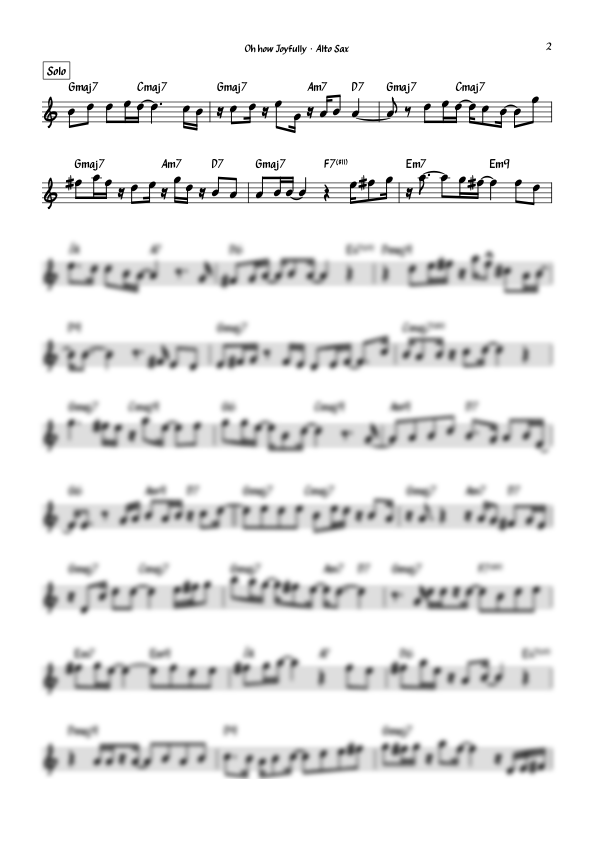 """""""Oh how Joyfully (Oh, Du Fröhliche)"""" for Alto Saxophone and Band"""