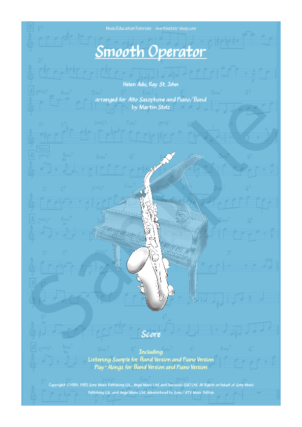 Smooth Operator for Alto Saxophone and Band/Piano