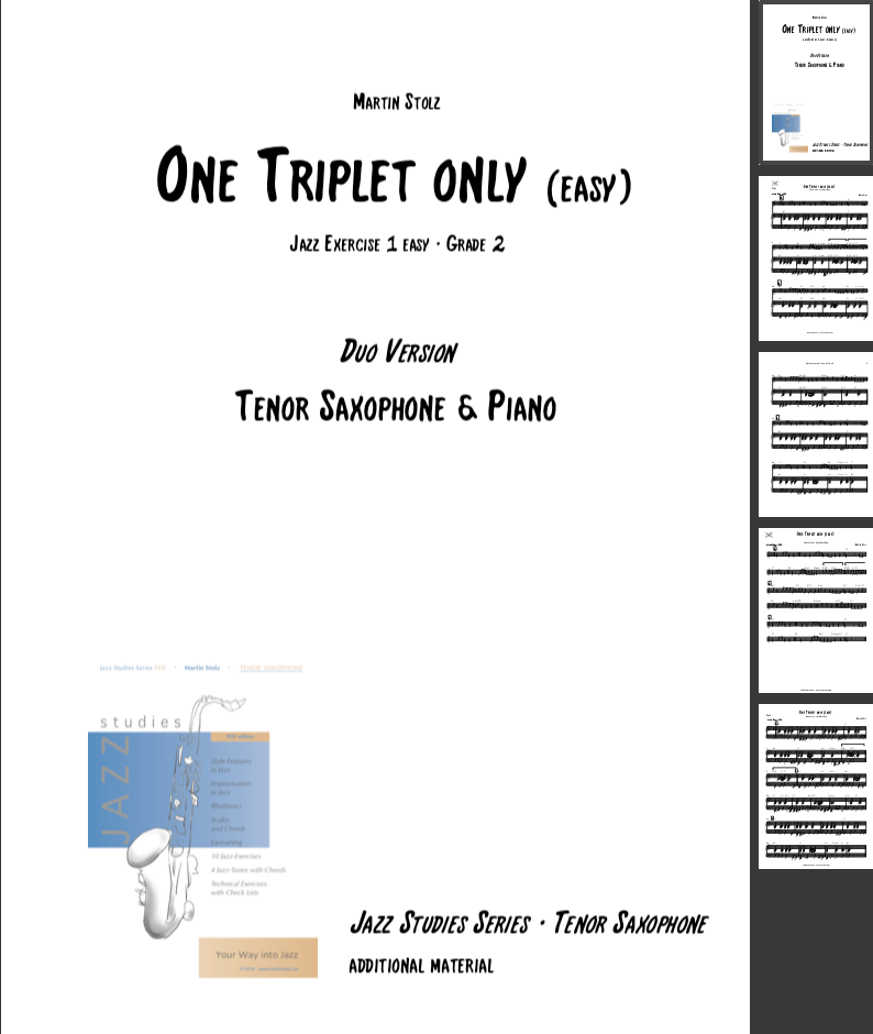 One Triplet only (easy version) · Tenor Saxophone & Piano