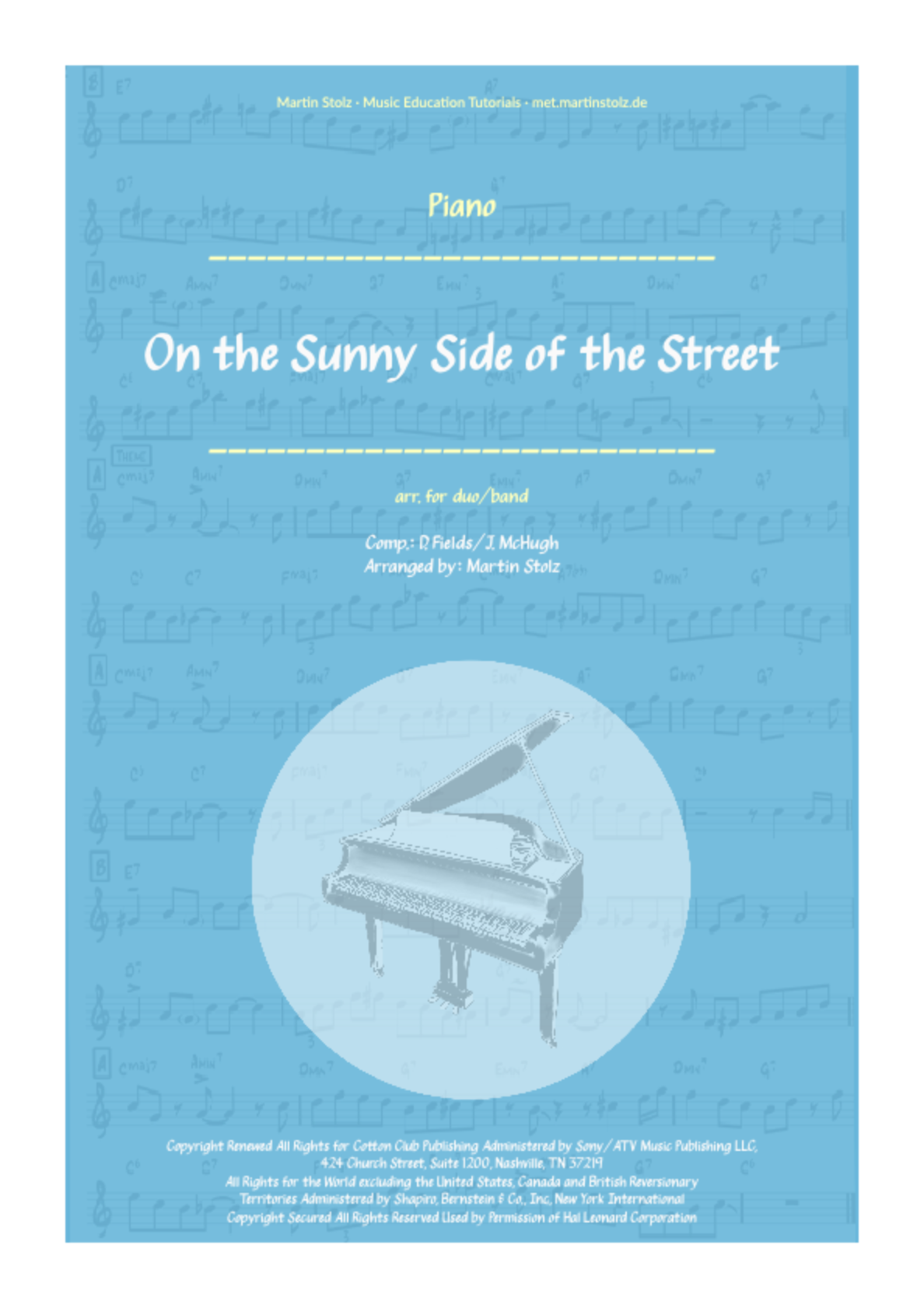 On the sunny Side of the Street - Flute and Band/Piano