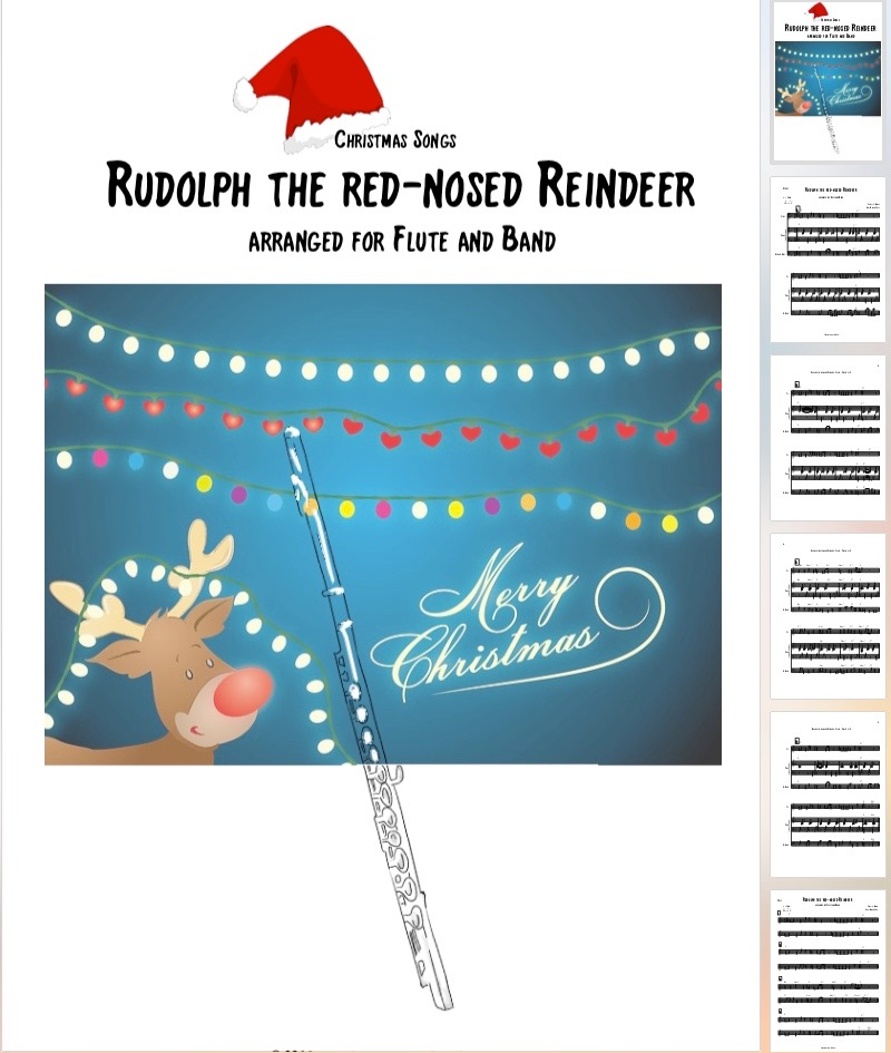 Rudolph the red-nosed Reindeer for Flute and Band