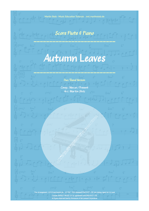 """Autumn Leaves"" for Flute and Piano"