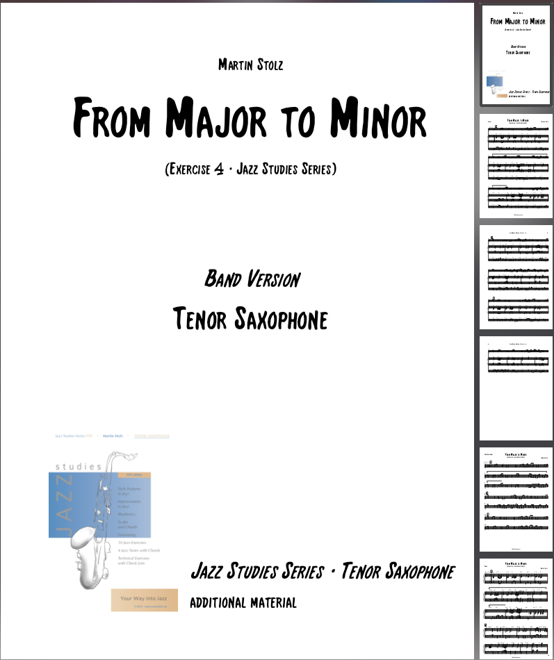 From Major to Minor · Tenor Saxophone & Band
