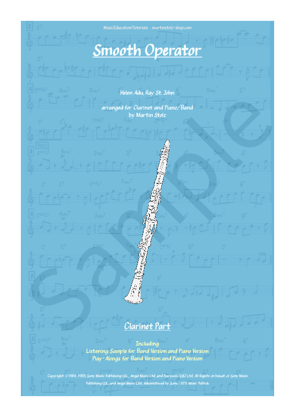 Smooth Operator for Clarinet and Band/Piano