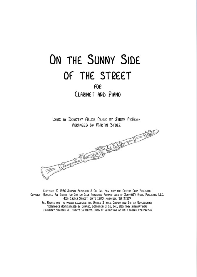 On the sunny Side of the Street - Clarinet and Piano/Band